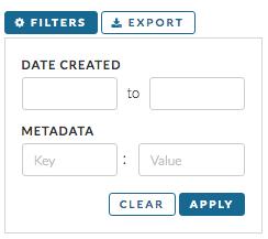Metadata Filter Input on Dashboard