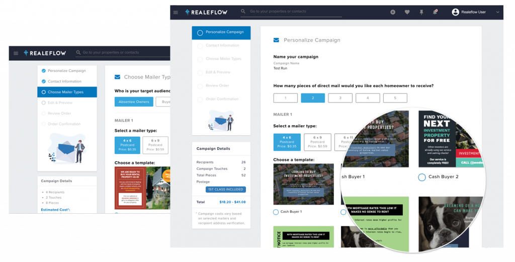 Realeflow increases product adoption with direct mail