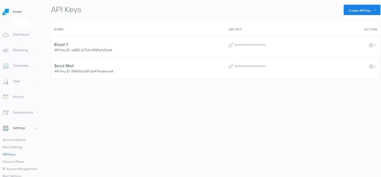 sendgrid registration page