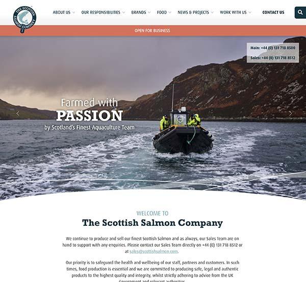 The Scottish Salmon Company homepage