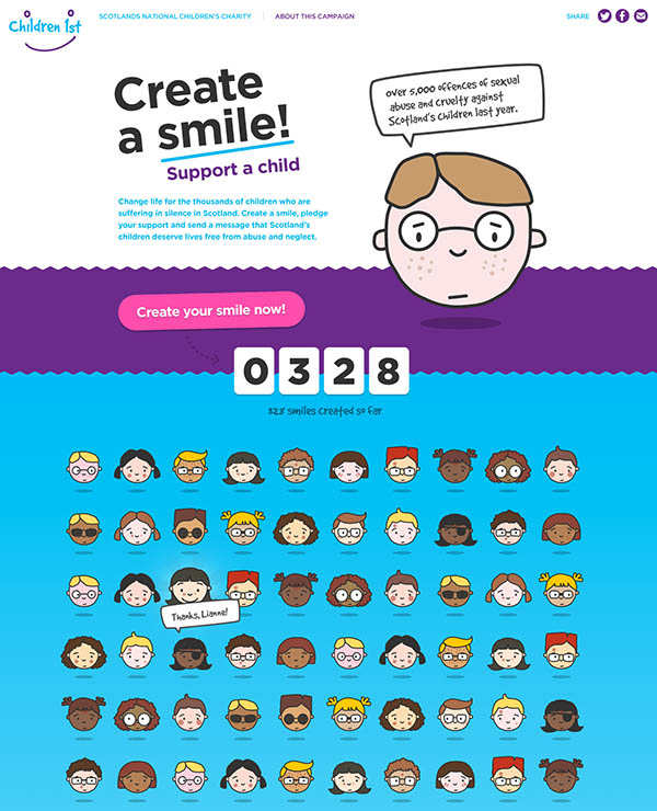 Create A Smile homepage