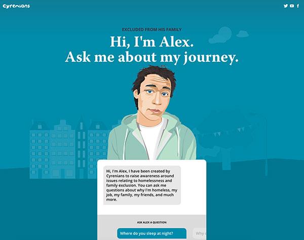 Ask Alex bot campaign