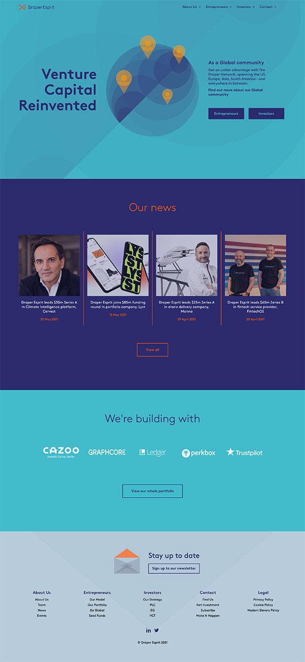 Homepage for Draper Esprit