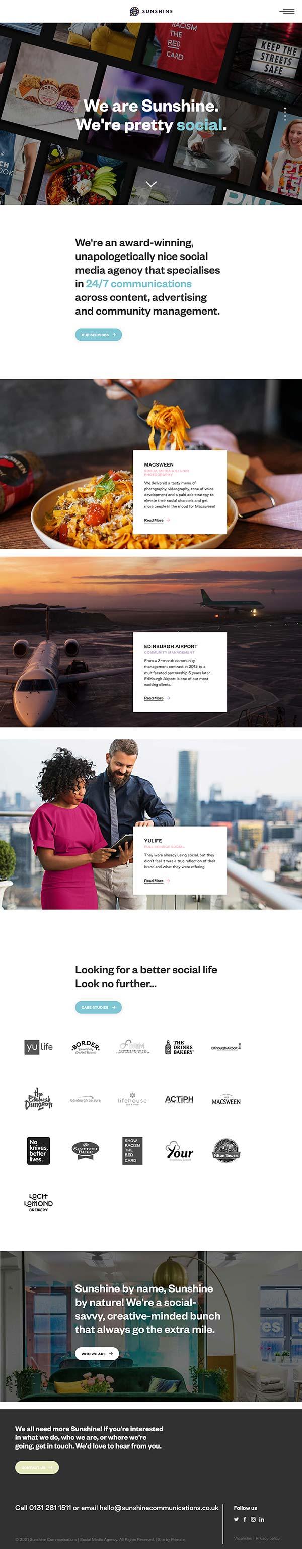 Sunshine Communications homepage