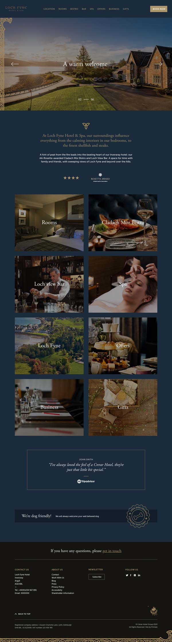 Crerar Hotels website