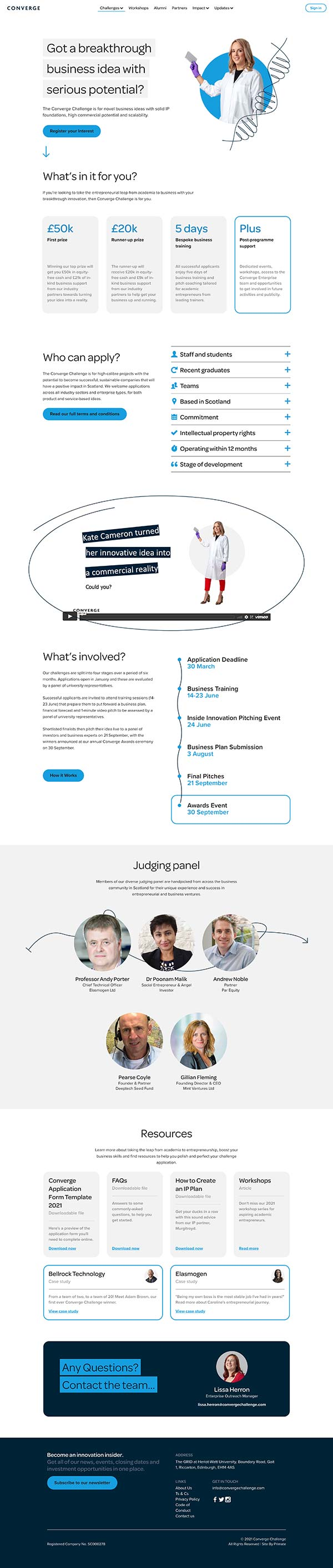 Converge homepage