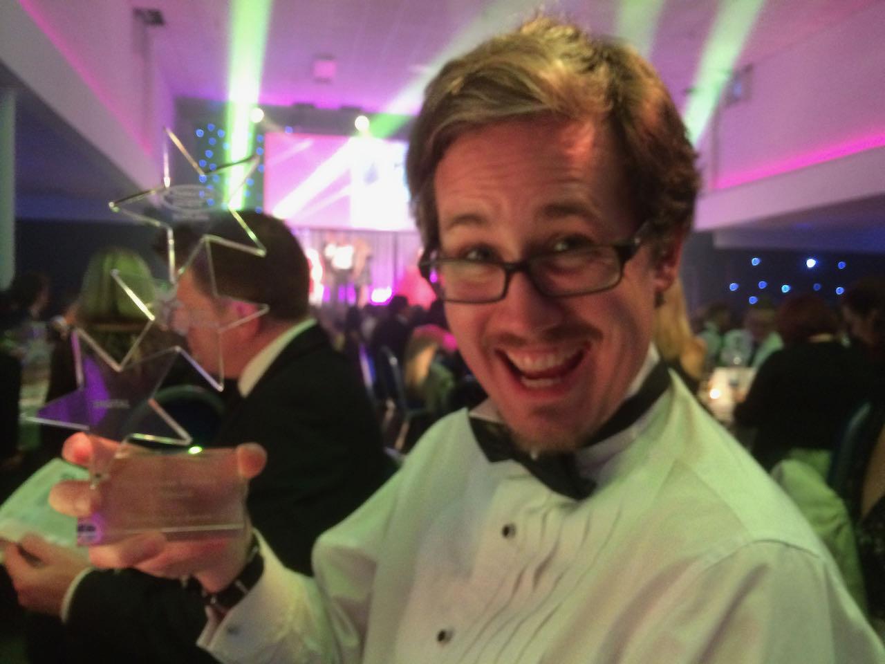 Espen with an award