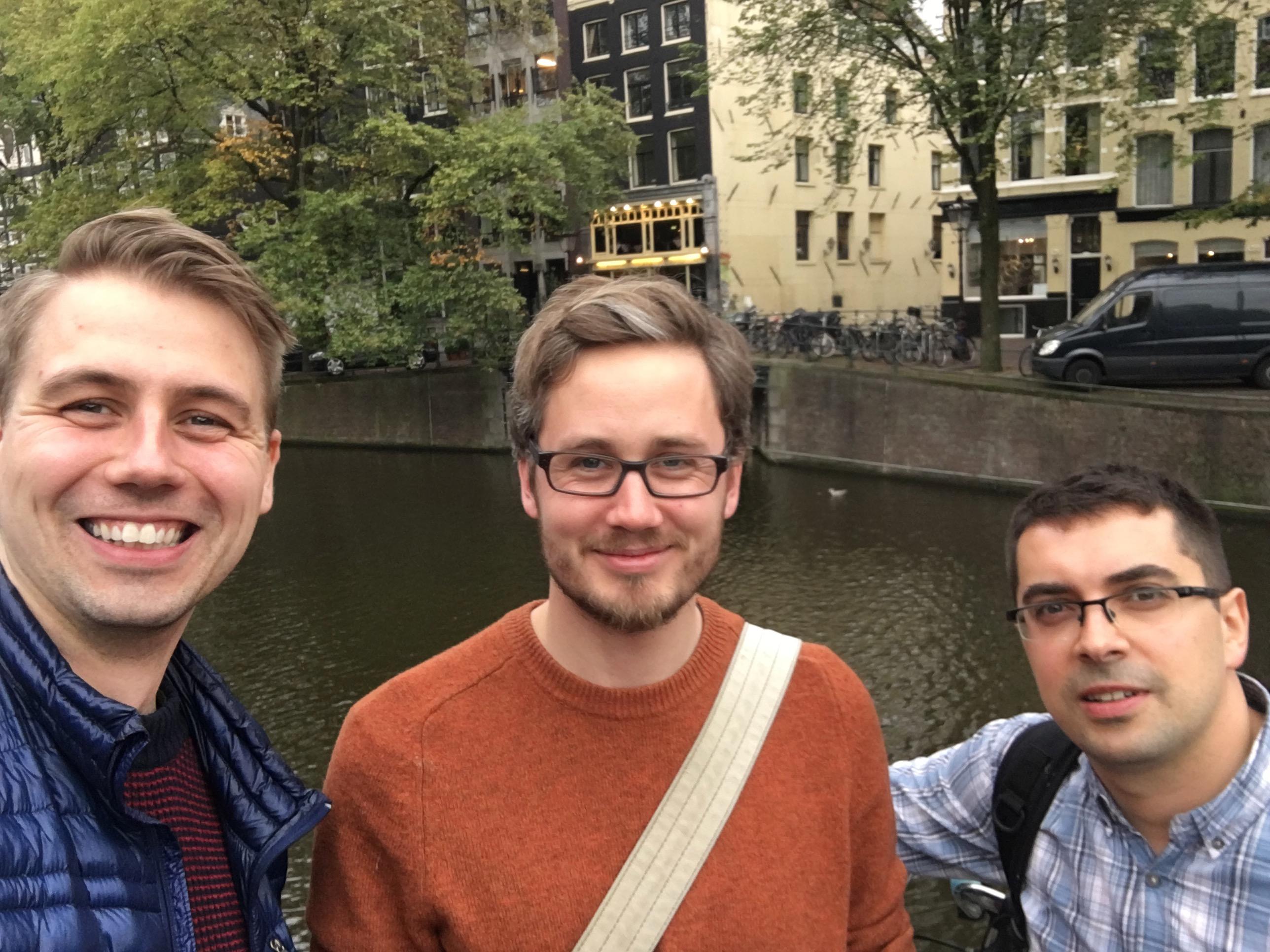 Espen, Bart, and Gordon in Amsterdam