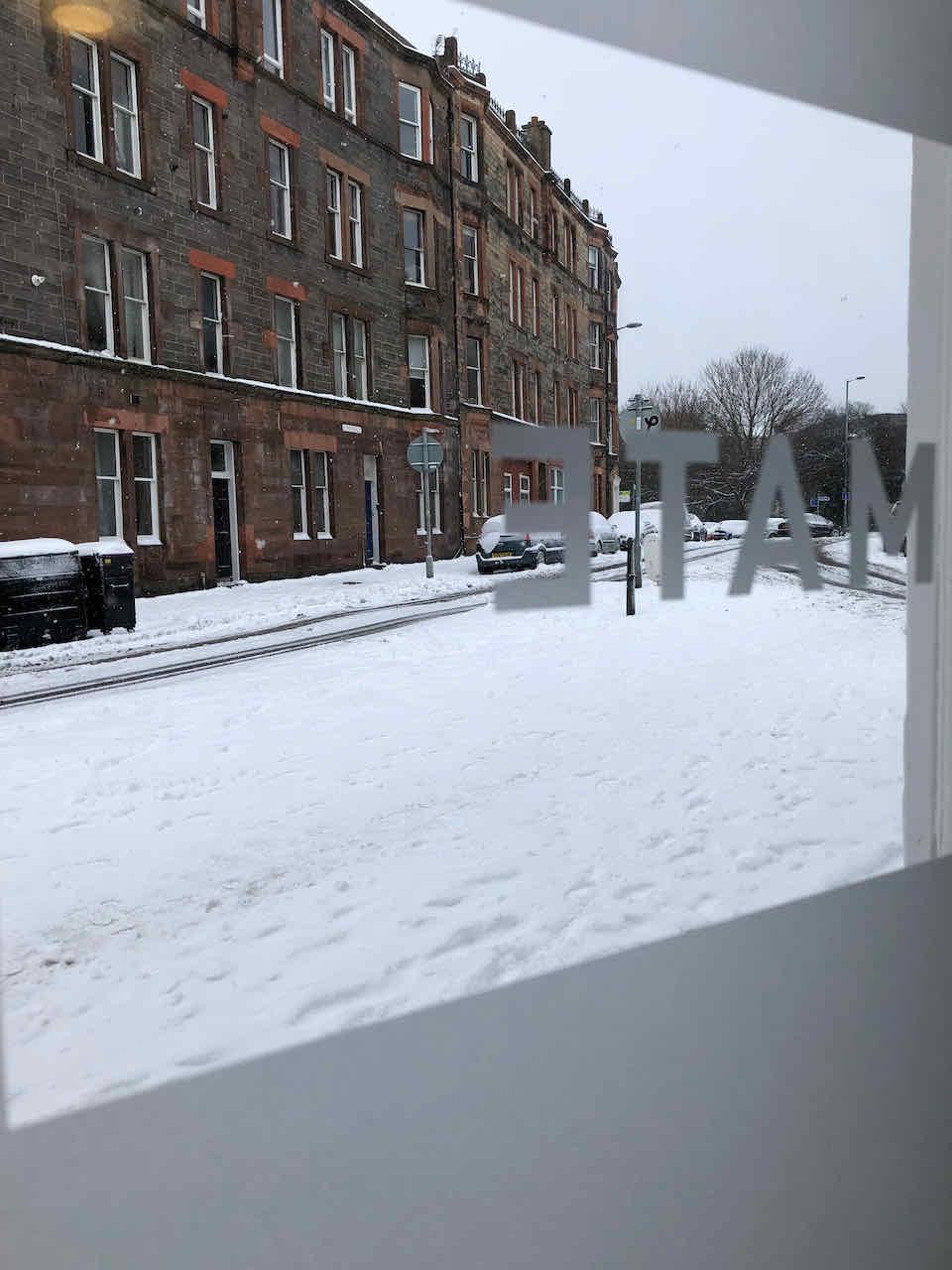 Snowy Primate office
