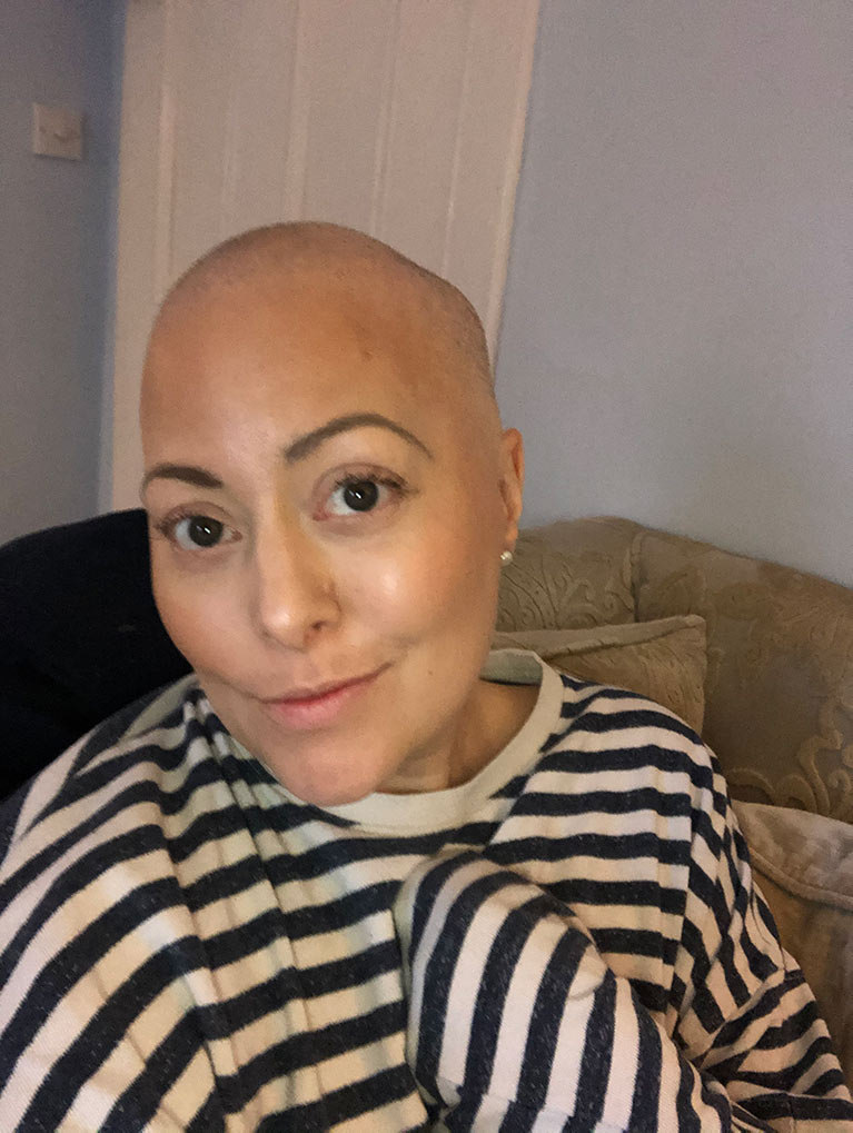 Rebecca with cancer