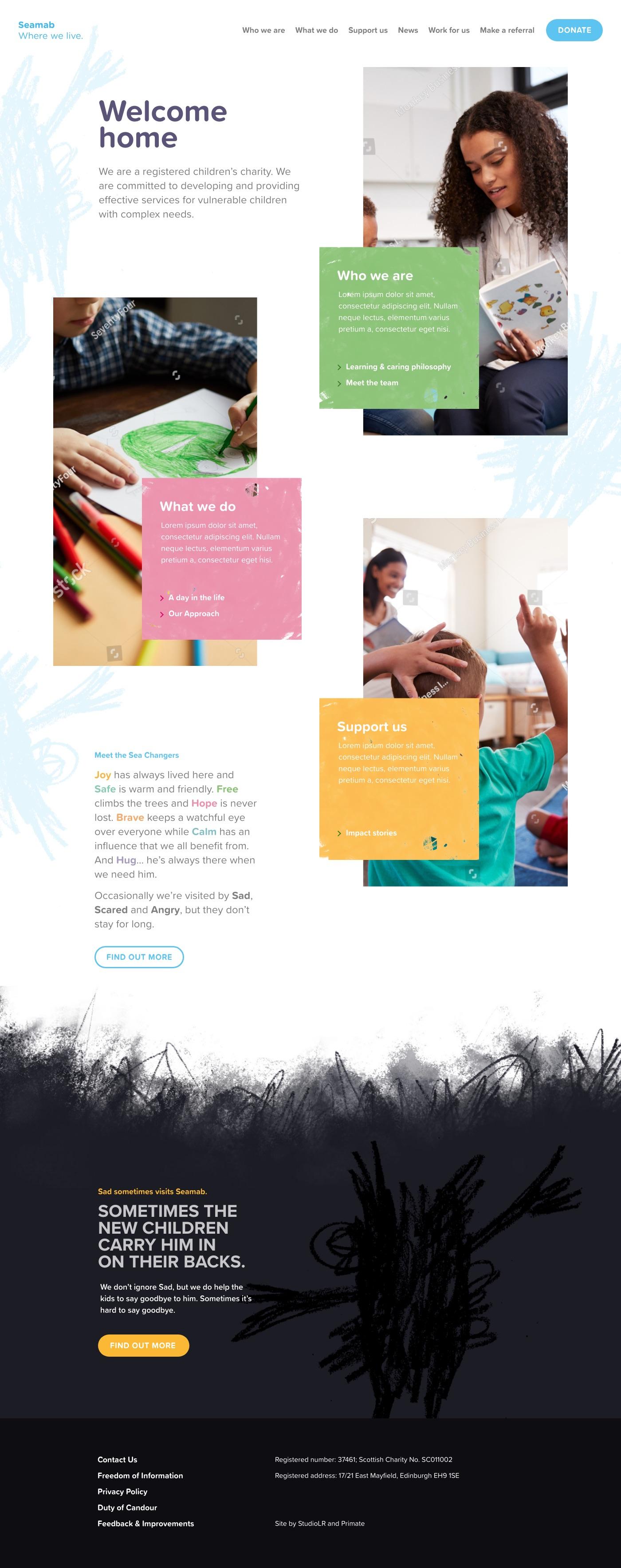 New Seamab homepage
