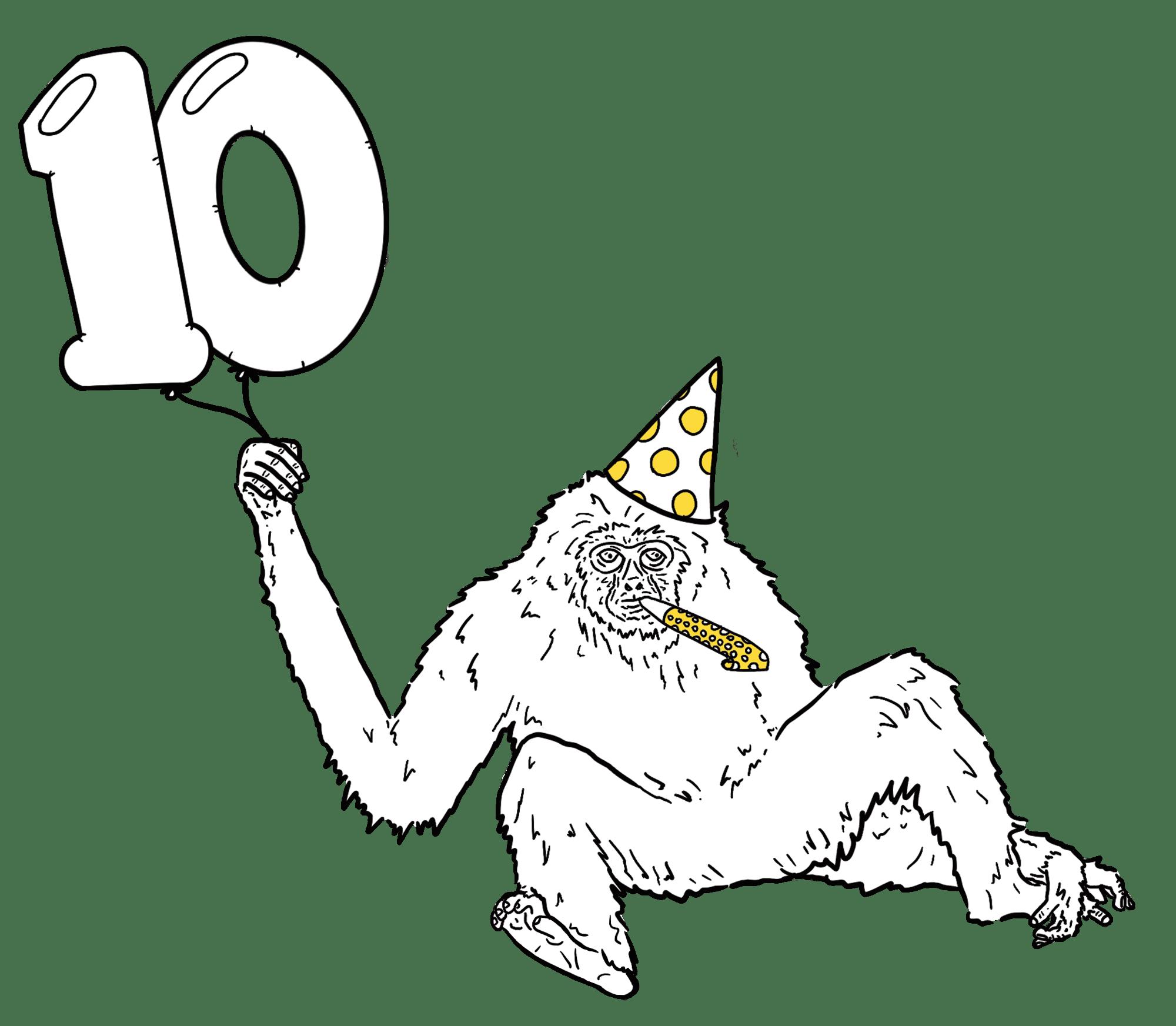 Birthday monkey!