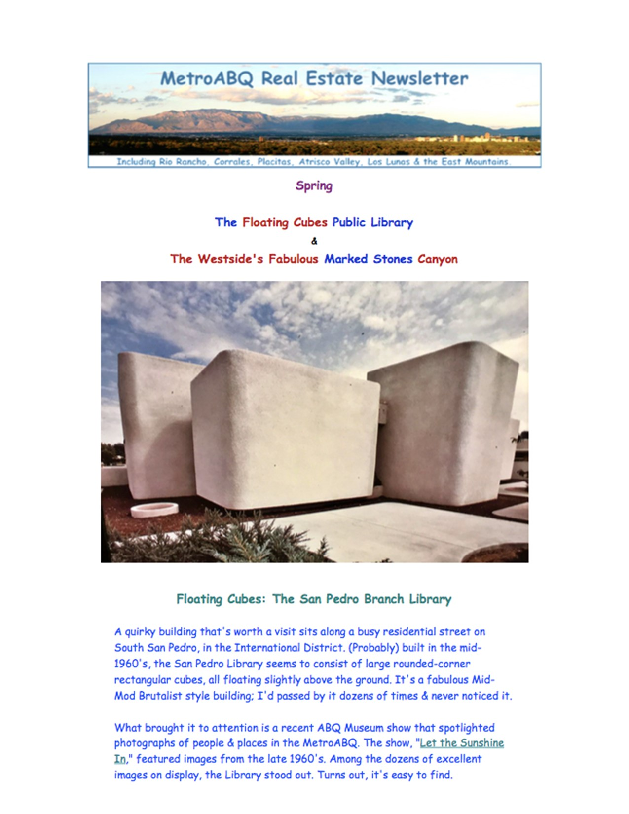 March -- Floating Library & Piedras Marcadas Canyon