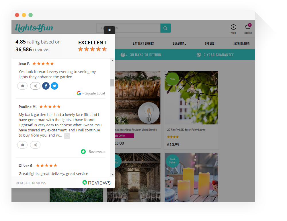 Reviews Widget