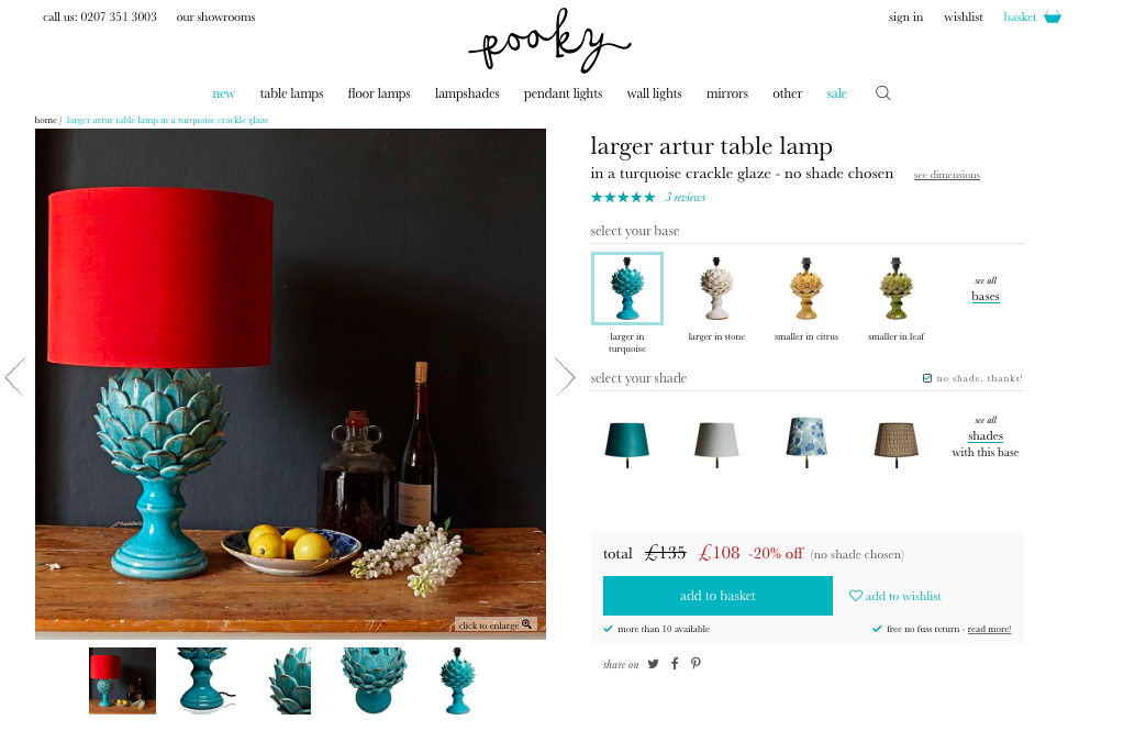 Pooky product page