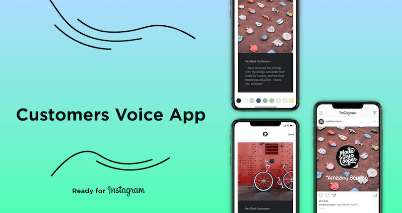 Take Your Reviews To Instagram With The Customers Voice App