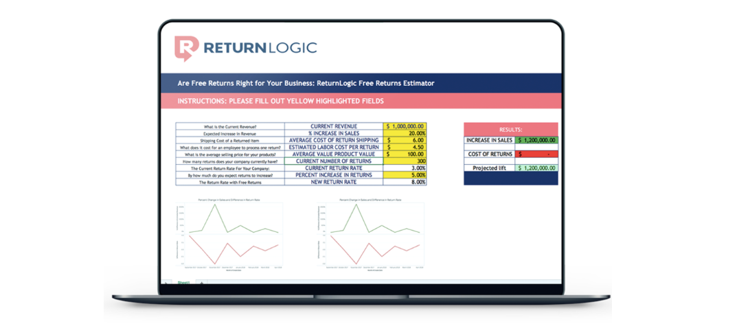 return logic free shipping calculator