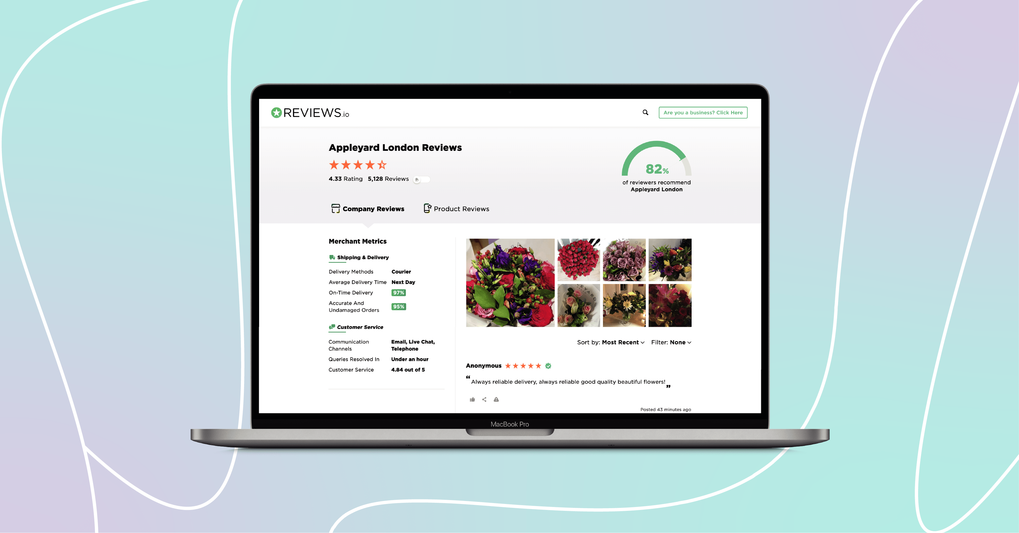Redesigned Company Profile Pages