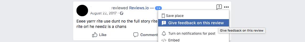 fraudulent fb review