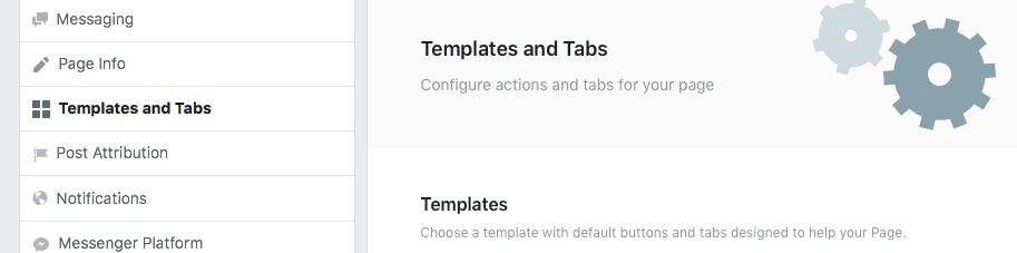 Facebook templates and tabs