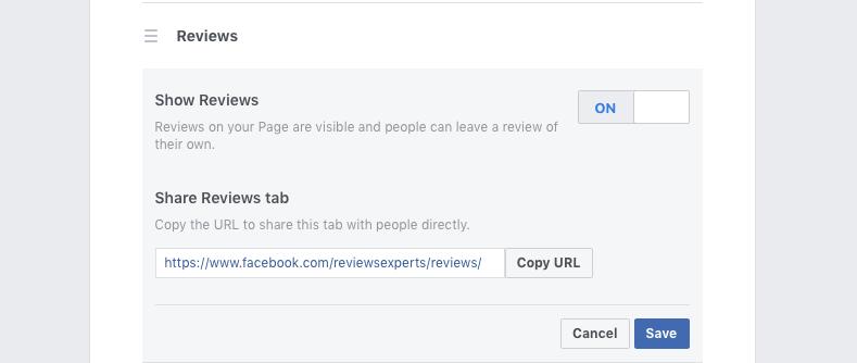 Disable Facebook Reviews