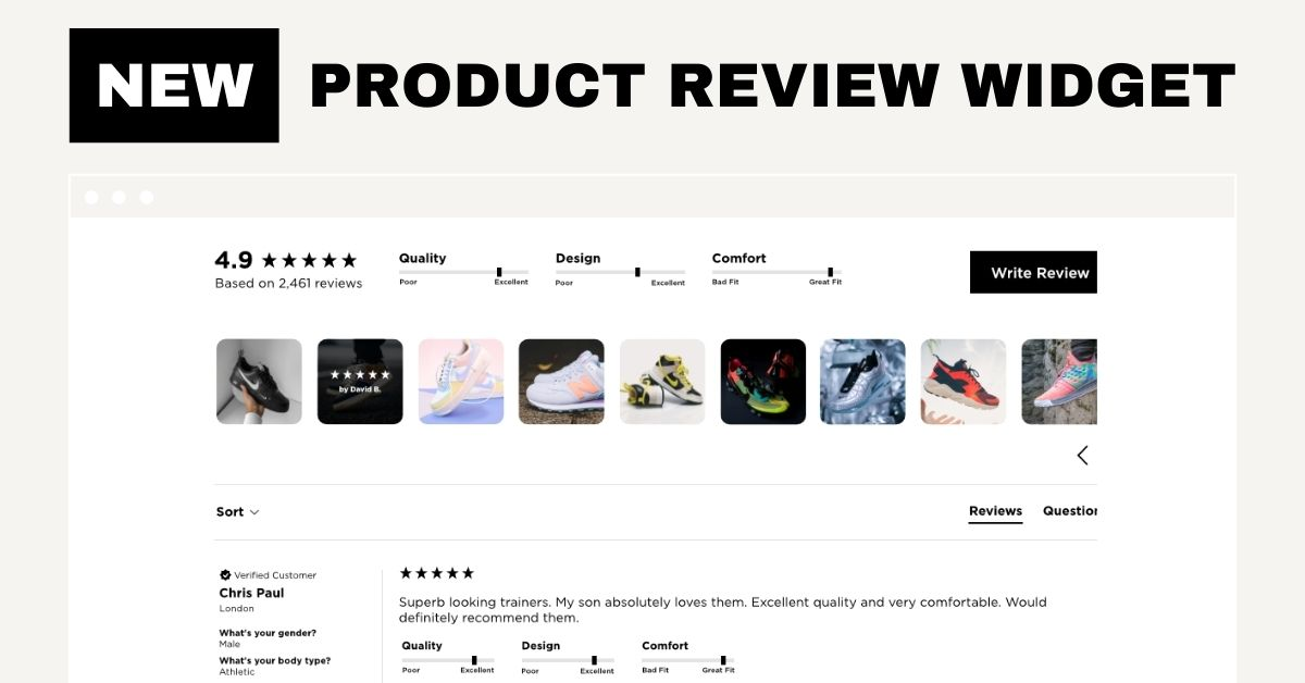 New Customisable Product Review Widget