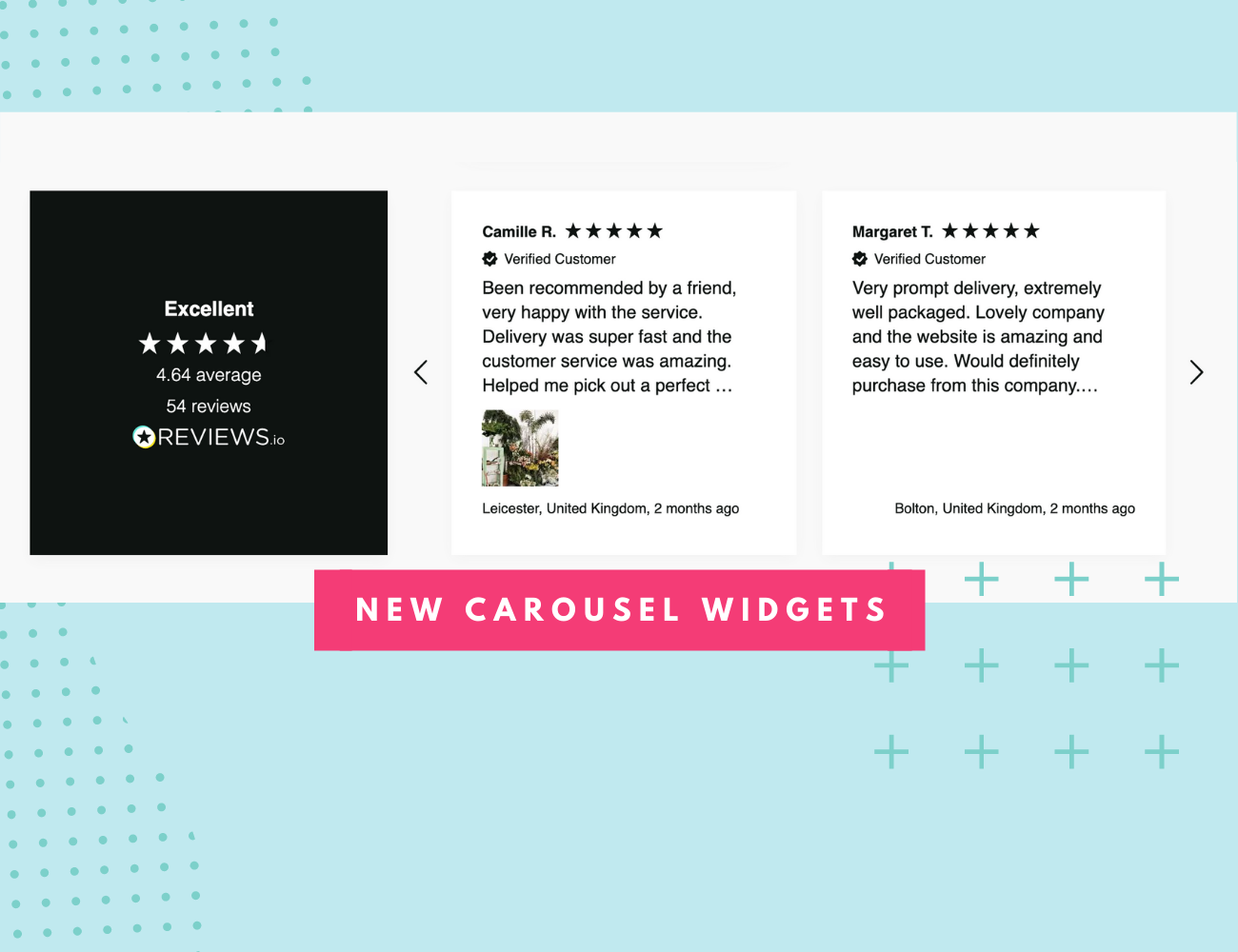 New Customisable Review Carousel Widgets