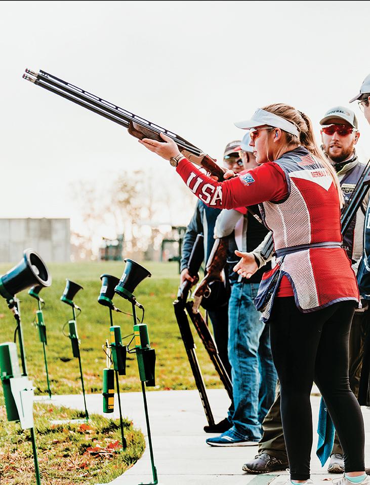 USA National Shooting team at practice