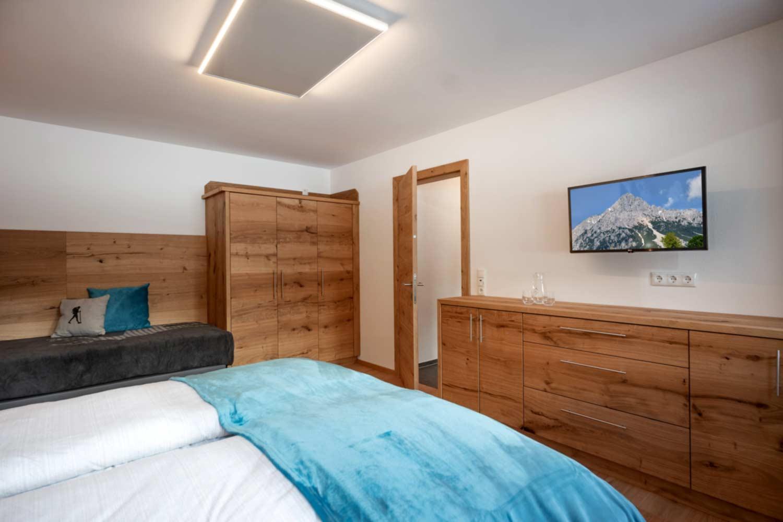 Schlafraum in der Steiner Appartement Suite 502