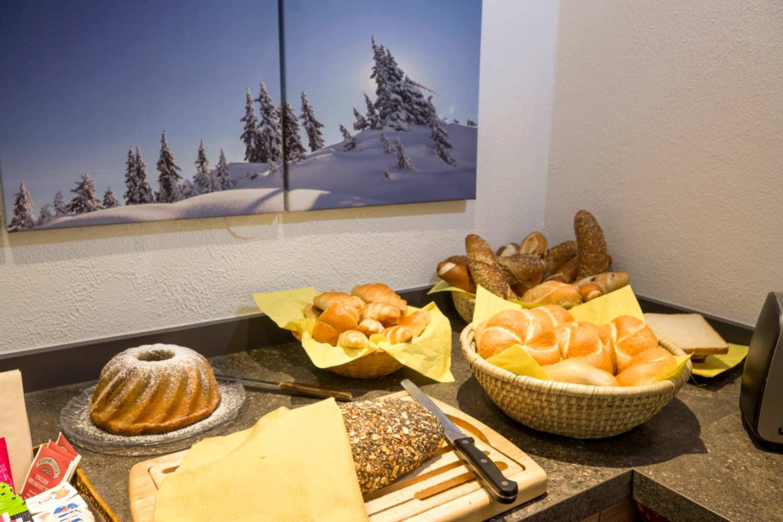 Appartements Pension Steiner Frühstücksbuffet