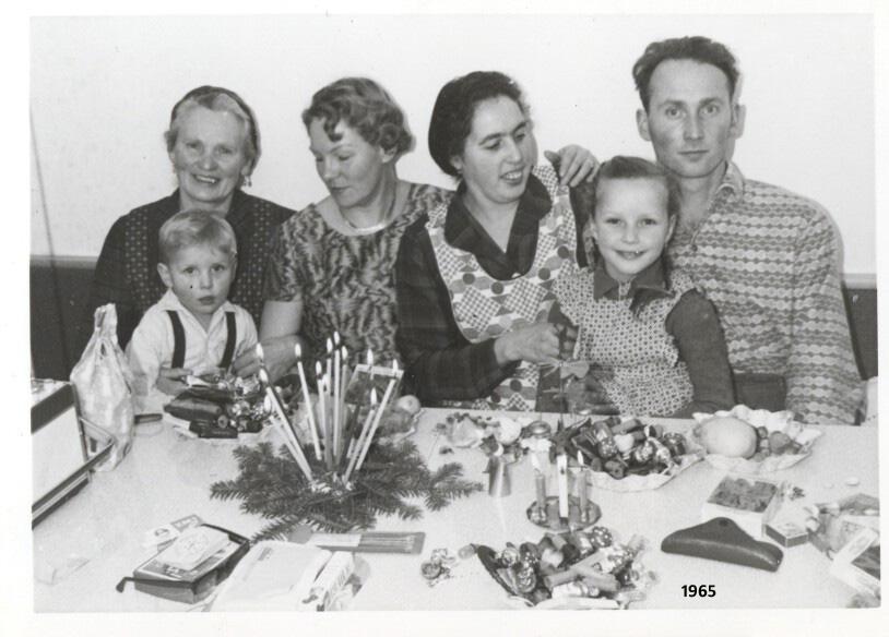 Foto der Familie Steiner im Jahre 1965