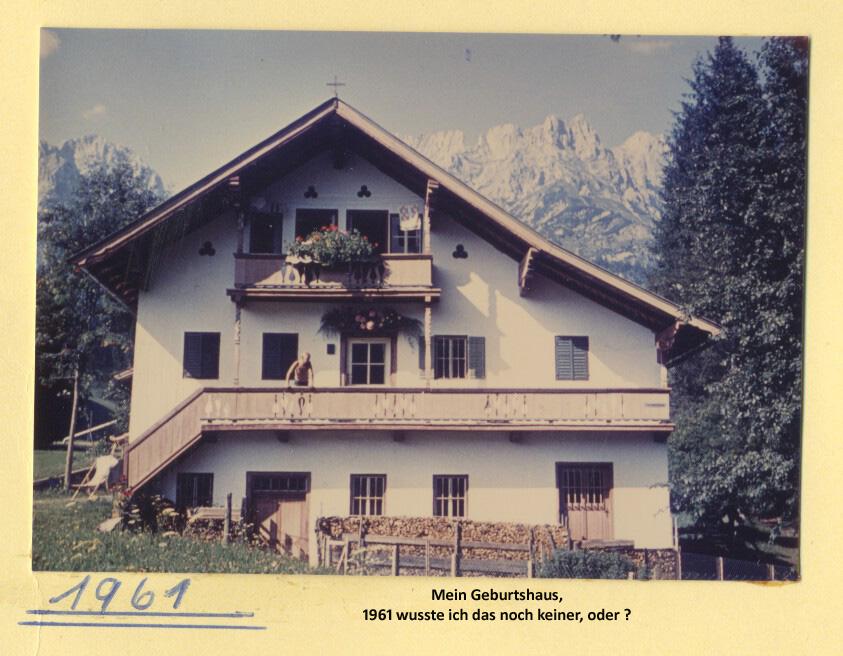 Pension Steiner im Jahre 1961.