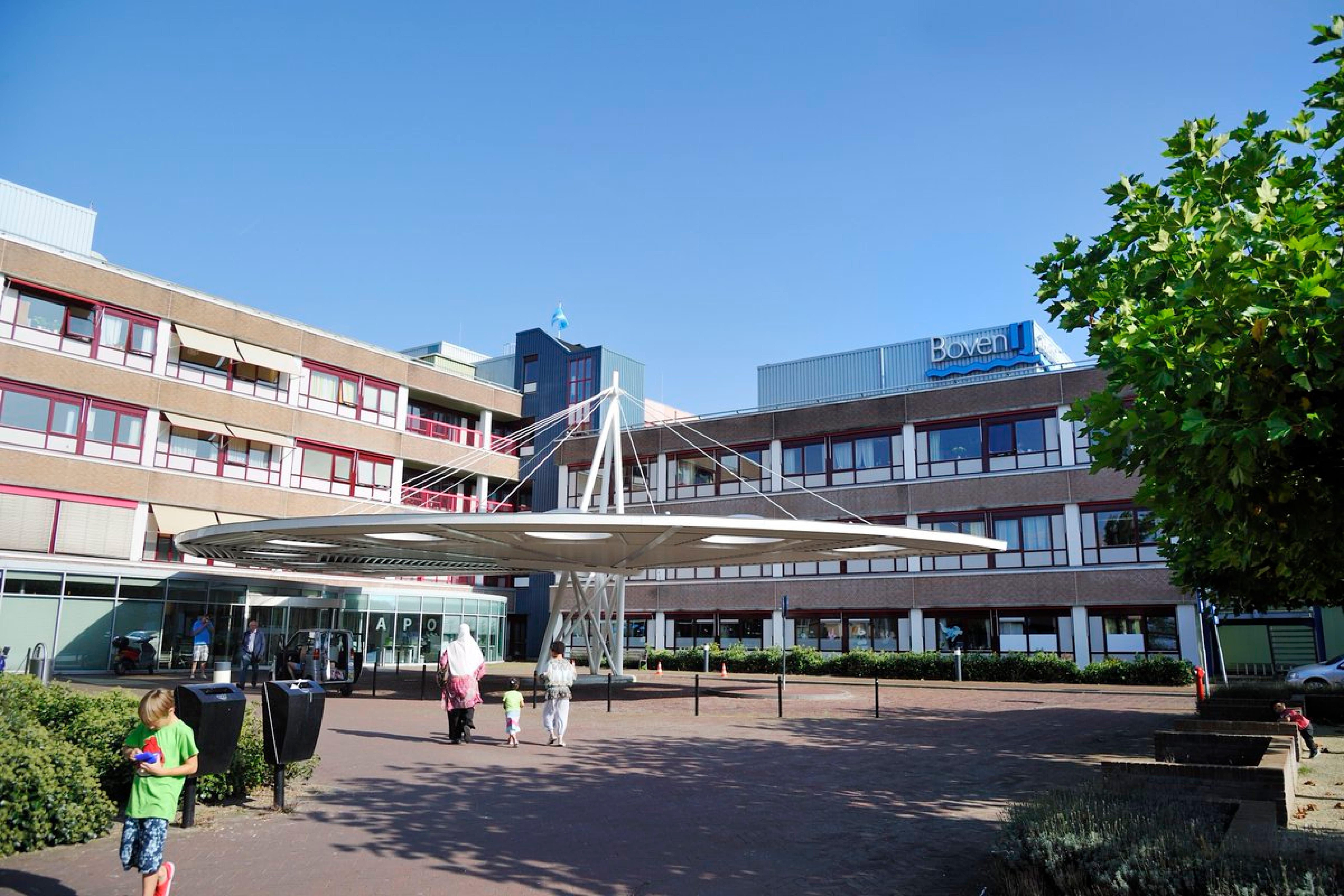 De voorkant van het BovenIJ ziekenhuis in Amsterdam-Noord