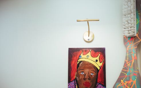 Photo of artwork hanging in the Dental House office