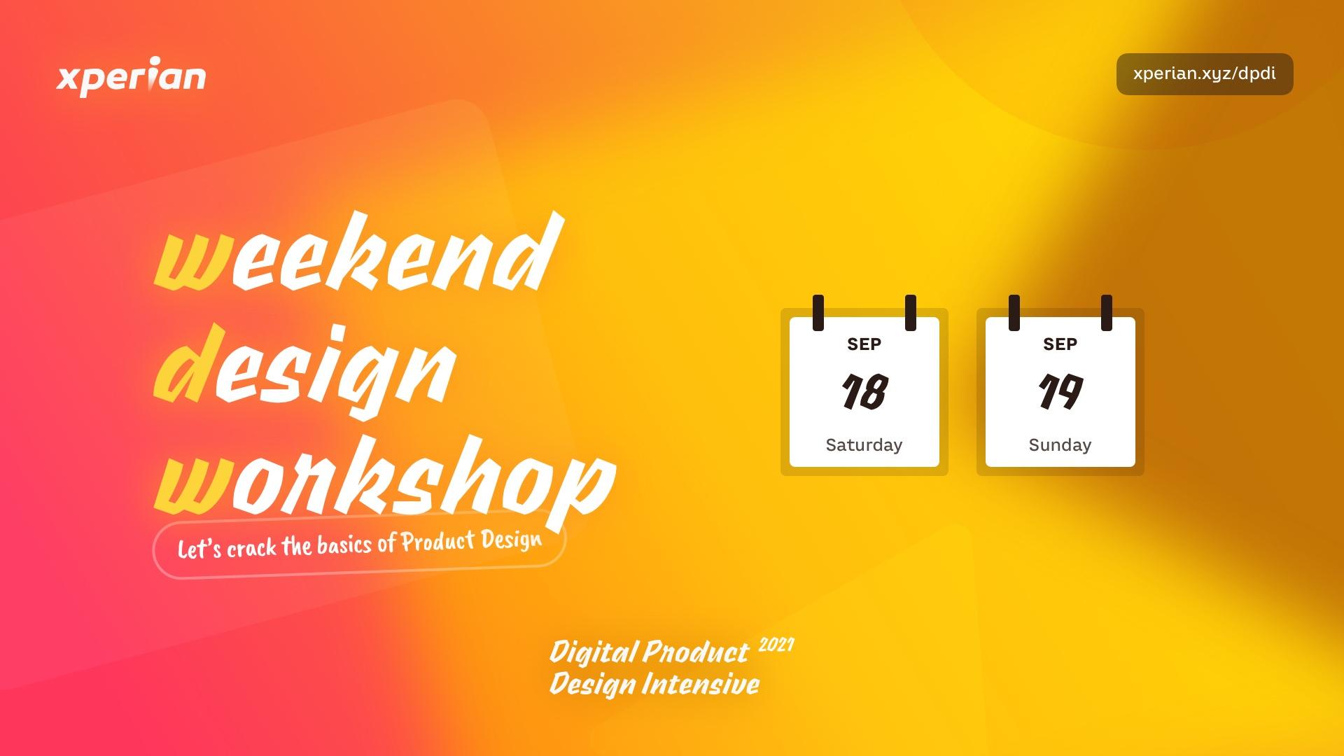 Weekend Design Workshop graphic