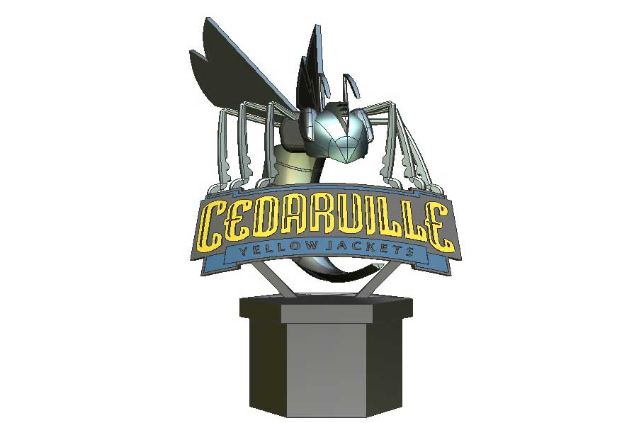 Cedarville Yellow Jackets Statue