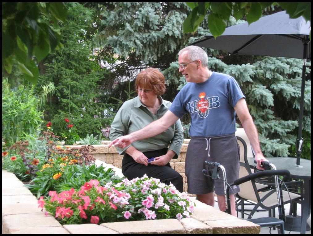 Accessibility Design clients enjoying their new outdoor space