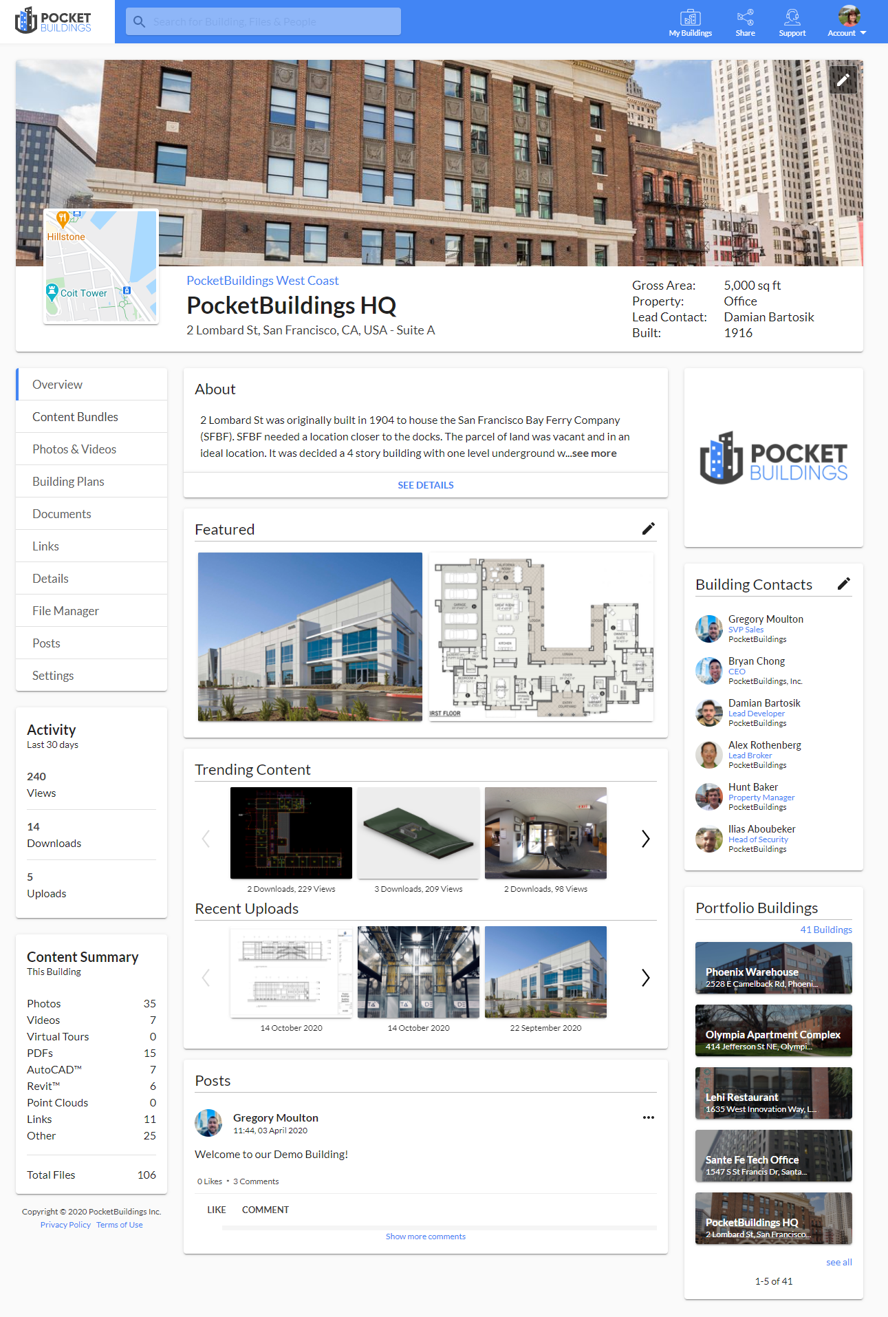 Robust Building Archive of Documentation & Media