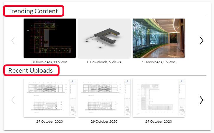 Track Trending Building Content & Recent Uploads