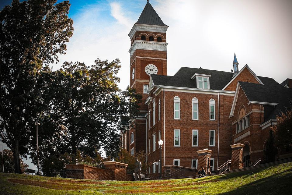 Tillman Hall, Clemson, Clock Tower, Tiger Paw