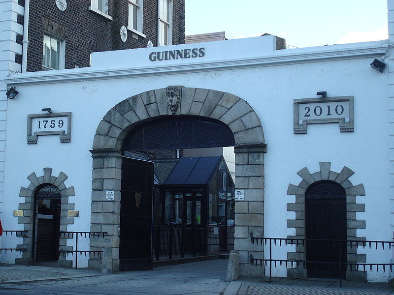 St. James' Gate, the entrance to the Guinness Brewery
