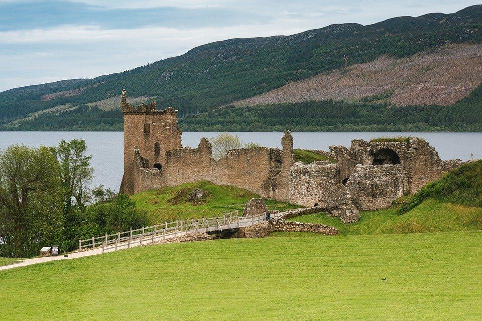 Urquhart Castle, Castle, Scotland, Scottish, Rom, Lake