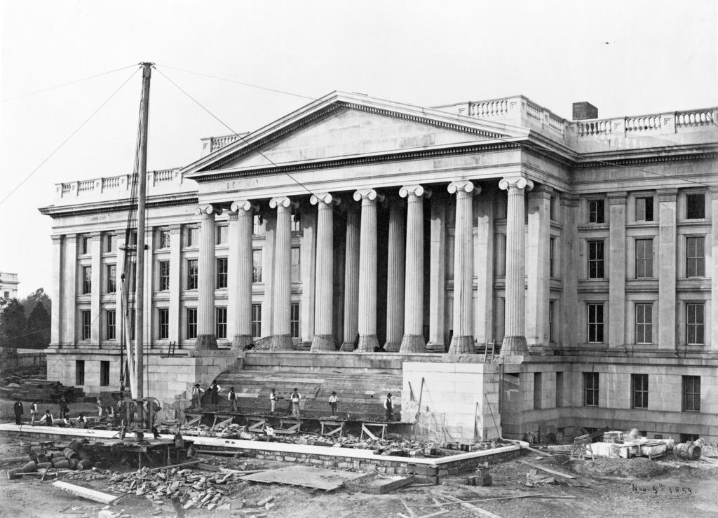 Treasury Building Construction