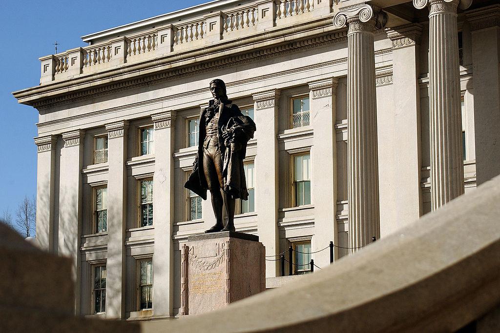Statue of Alexander Hamilton by Karen Nutini (source)