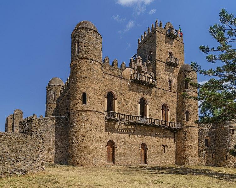 Fasilides' castle in Fasil Ghebbi, Gondar