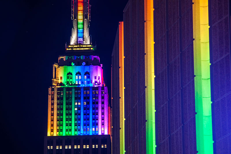 File:Empire State Building and Madison Square Garden in Rainbow Colors for Gay Pride 2015 (18642006144).jpg