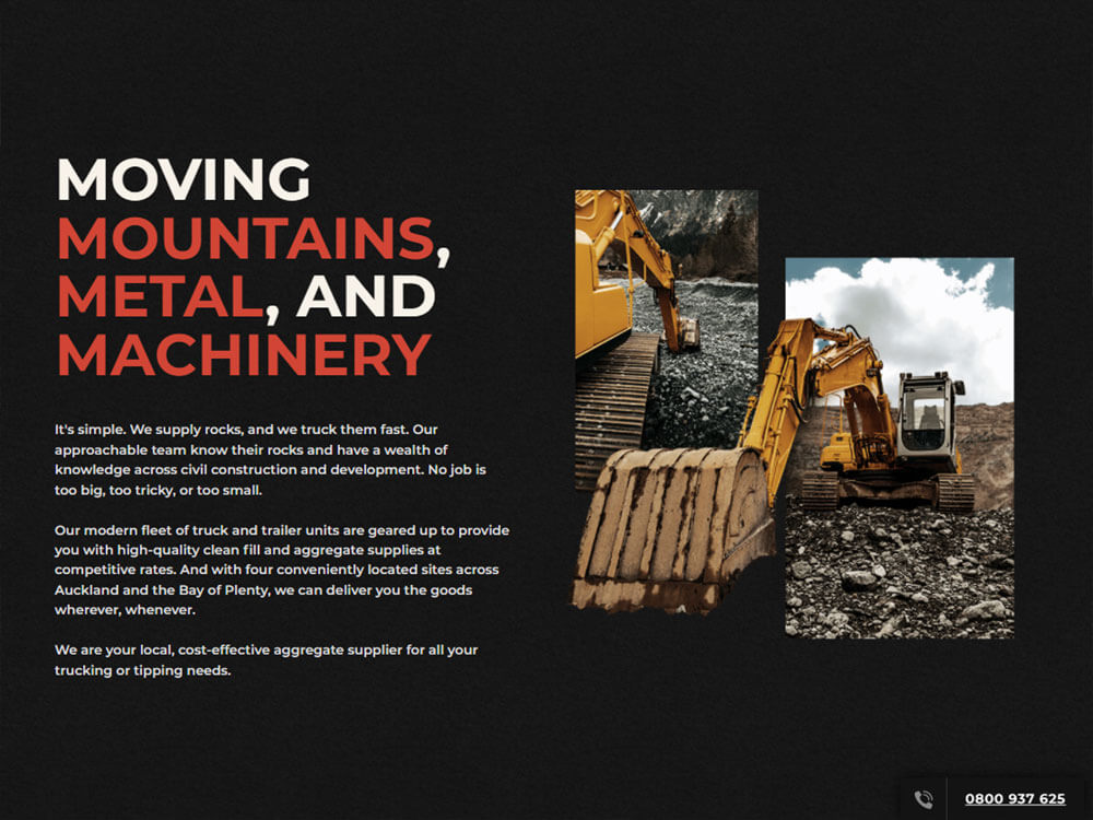 Rock and Rubble - Design and Develop by Artistry Online