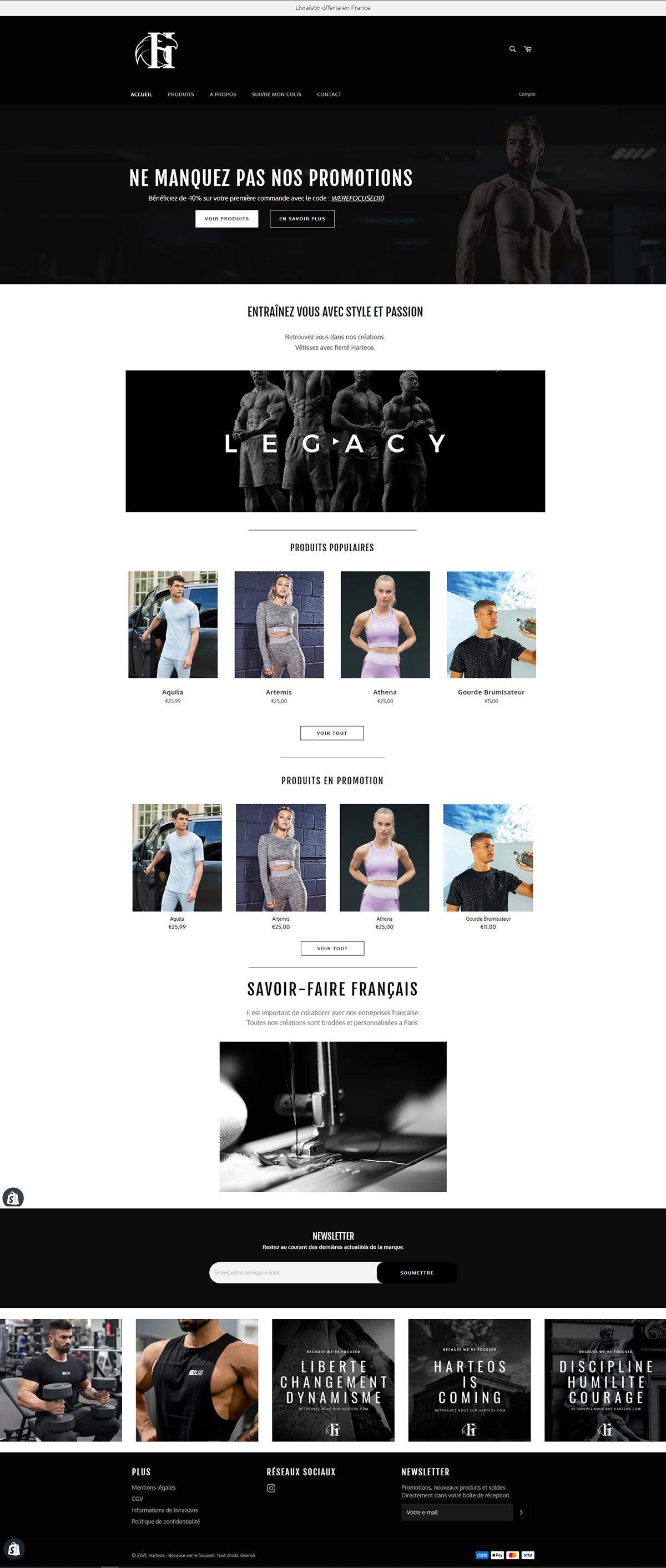 Maquette site web Harteos
