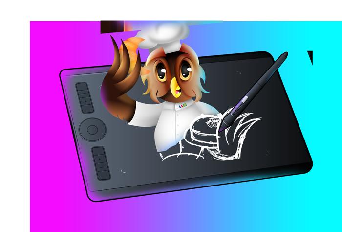 Illustration tablette wacom