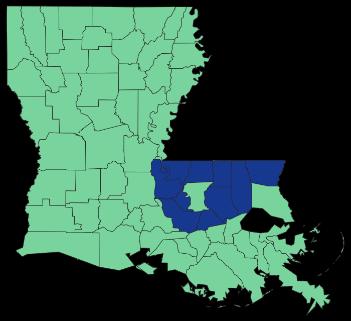 Louisiana Geaux Jobs footprint of locations
